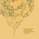 Vector die abstrakte Herbstbaumillustration, die von den Strudeln für Sie gemacht wird Lizenzfreies Stockbild