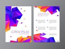 Vector die Flieger-, Orange und Purpurrotedes broschürenzusammenfassungs-Designs 2 Seiten, Hintergrund, Abdeckung vektor abbildung