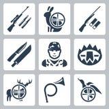 Vector die geplaatste pictogrammen laten doorschemeren Royalty-vrije Stock Afbeeldingen