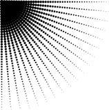 Vector die halftone punten in richting van het rond maken verminderen Stock Foto's