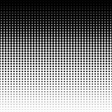 Vector die halftone punten verminderen Stock Afbeeldingen
