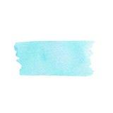 Vector die handgemalte hellblaue Beschaffenheit, die auf dem weißen Hintergrund lokalisiert wird Lizenzfreies Stockbild