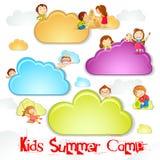 Sommer-Lager für Kinder Stockbilder