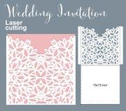 Vector Die Laser Cut Envelope Stock Images