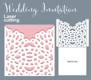 Vector die laser cut envelope Royalty Free Stock Photography