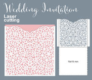 Vector die laser cut envelope Stock Images