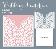 Vector die laser cut envelope Royalty Free Stock Images