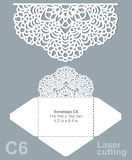 Vector die laser cut envelope Stock Image