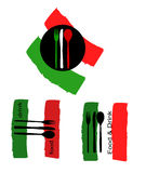 Logos für das Versorgen Stockfotos