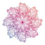 Vector die Mandala, mit Blumen, Blume, orientalisches Kreismuster Islam, Arabisch, Inder, das Türkische, Pakistan lizenzfreie abbildung