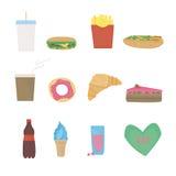 Vector die met voedsel wordt geplaatst Royalty-vrije Stock Fotografie