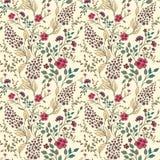 Vector die nahtlose helle bunte leichte Hand, die wenigem ditsy Blumenmuster gezeichnet wird Helles Blumen ganz über Druck auf Sc lizenzfreie abbildung