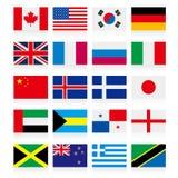 Vector die nationale vlagreeks drawning Stock Afbeelding