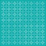 Vector die quadratischen hellblauen Linien, die auf einem blauen Hintergrund lokalisiert werden Minimalistic-Art vektor abbildung