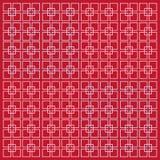 Vector die quadratischen rosa Linien, die auf einem Himbeerrosahintergrund lokalisiert werden Minimalistic-Art lizenzfreie abbildung