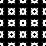 Vector die Schwarzweiss--, Kleeblume, die im vertikalen und horizontalen bildenden abstrakten Kontrolldesign vereinbart wird lizenzfreie abbildung
