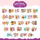Vector dierlijk alfabet vector illustratie