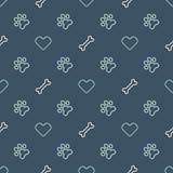 Vector dierlijk naadloos patroon van pootvoetafdruk Stock Afbeelding