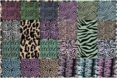 Vector dierlijke huidtexturen Stock Foto's