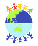 Vector different children royalty free stock images