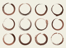 Vector Different Coffee Stains Abstract Set Illustration Stock Photo