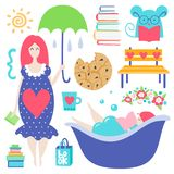Vector different illustration royalty free illustration