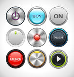 Vector Different Round Buttons Royalty Free Stock Image