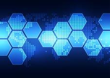 Vector digitaal globaal technologieconcept, abstracte achtergrond Stock Foto