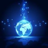 Vector digitaal globaal technologieconcept, abstracte achtergrond Stock Afbeelding