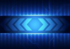 Vector digitaal technologieconcept, abstracte achtergrond vector illustratie