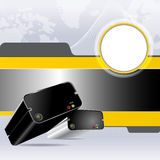 Vector digital background with two hard drives Stock Photography