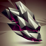 Vector digital 3d abstraction, geometric polygonal element. Spat Stock Photos