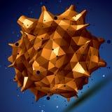 Vector digital 3d abstraction, lattice geometric polygonal eleme Stock Images