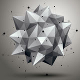 Vector digital 3d abstraction, lattice geometric polygonal eleme Stock Image
