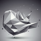 Vector digital 3d abstraction, lattice geometric polygonal templ Royalty Free Stock Photography