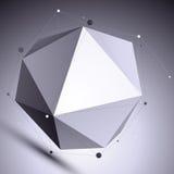 Vector digital 3d abstraction, lattice geometric template Stock Photography