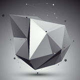 Vector digital 3d abstraction, lattice geometric template Royalty Free Stock Photo