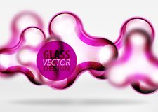 Vector digital 3d space bubble, glass and metallic effects. Vector digital 3d space purple bubble, glass and metallic effects. Technology abstract background Stock Photography