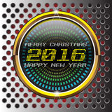 Vector digital del oro de la Navidad y del Año Nuevo Imagenes de archivo