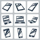 Vector digital devices icons set Stock Images