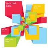 Vector digital explosion background for presentation Stock Image