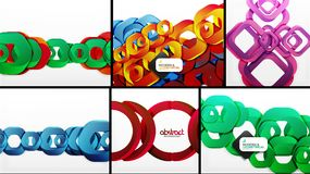 Digital geometric 3d abstract backgrounds. Vector digital geometric 3d abstract backgrounds Stock Photos