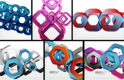 Digital geometric 3d abstract backgrounds Stock Photo