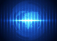 Vector digital global communication technology, abstract background. Innovation Royalty Free Stock Photography