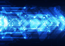 Vector digital global technology, abstract background Royalty Free Stock Images