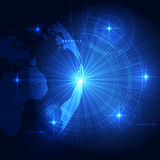 Vector digital global technology, abstract background Stock Image
