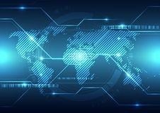 Vector digital global technology concept, abstract background Royalty Free Stock Photo