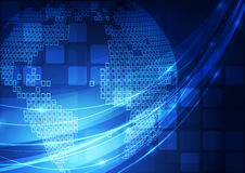 Vector digital global technology concept, abstract background Royalty Free Stock Image