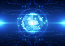 Vector digital global technology concept, abstract background Royalty Free Stock Photography