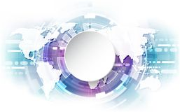 Vector digital global technology concept, abstract background Stock Photos